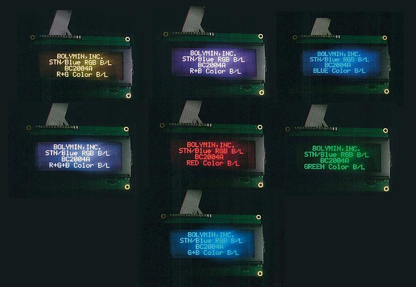 マルチカラーバックライト LCDモ...